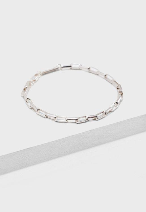 Rectangular Link Chain Bracelet