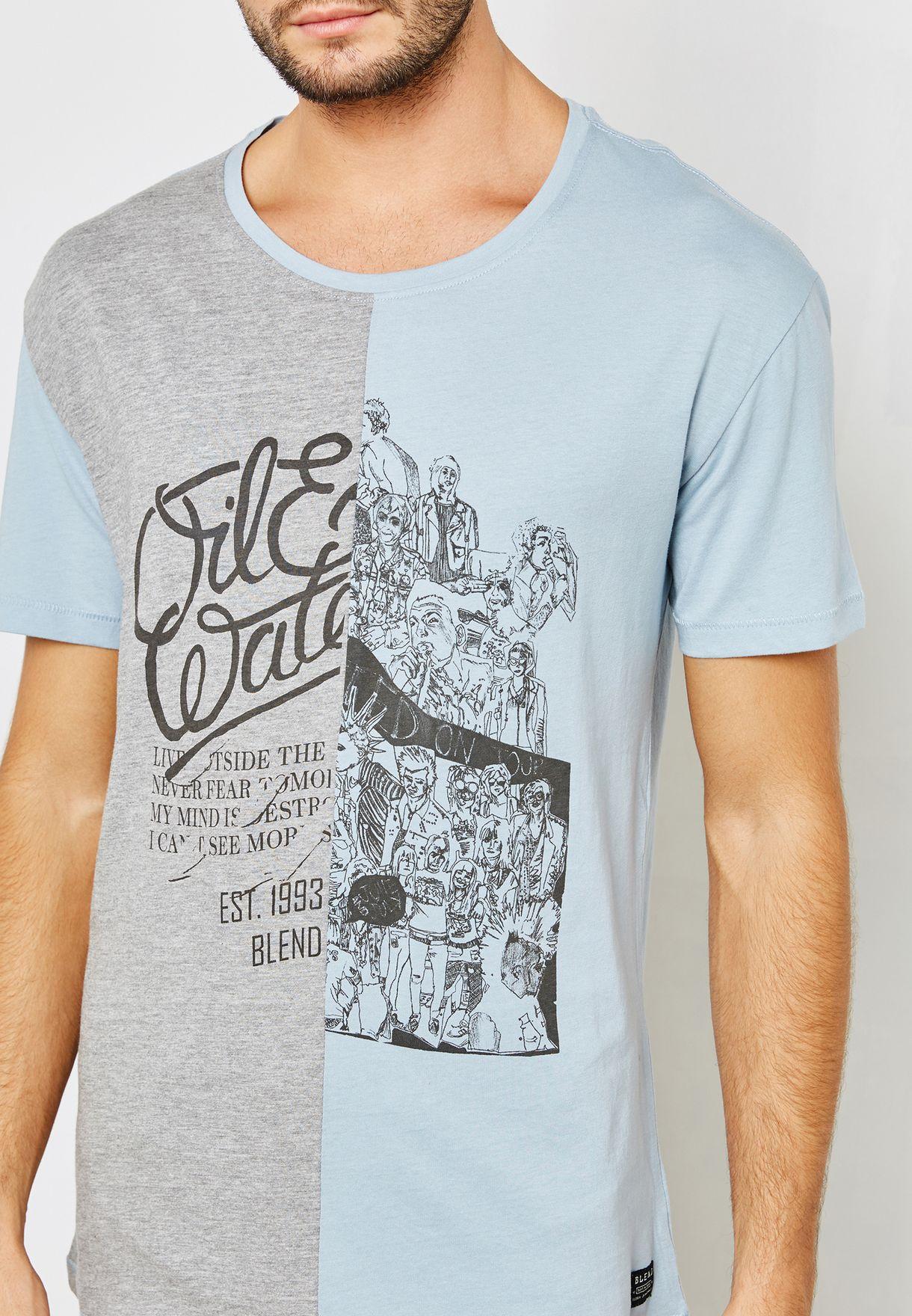 Colourblock Printed T-Shirt