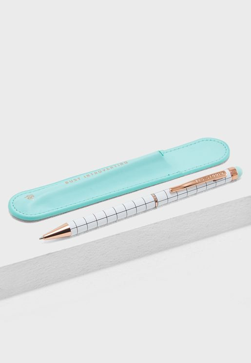 Busy Introverting Pen And Case
