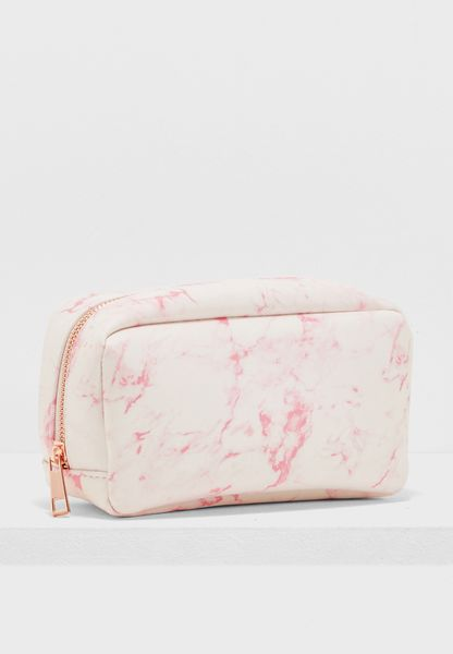Large Marble Make Up Bag