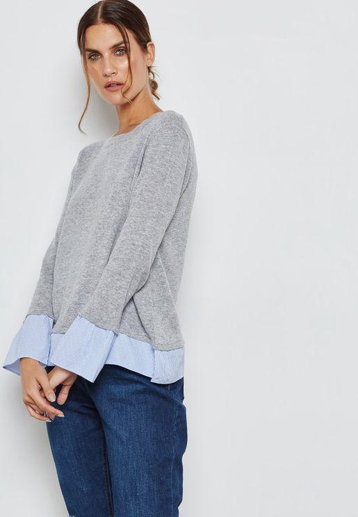 Striped 2 In 1 Sweater