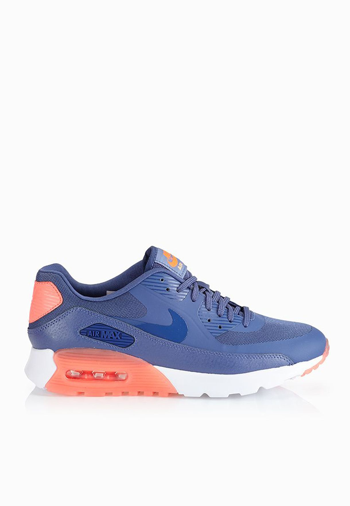 401dc77cf0af Shop Nike blue Air Max 90 Ultra Essential Sneakers 724981-400 for ...