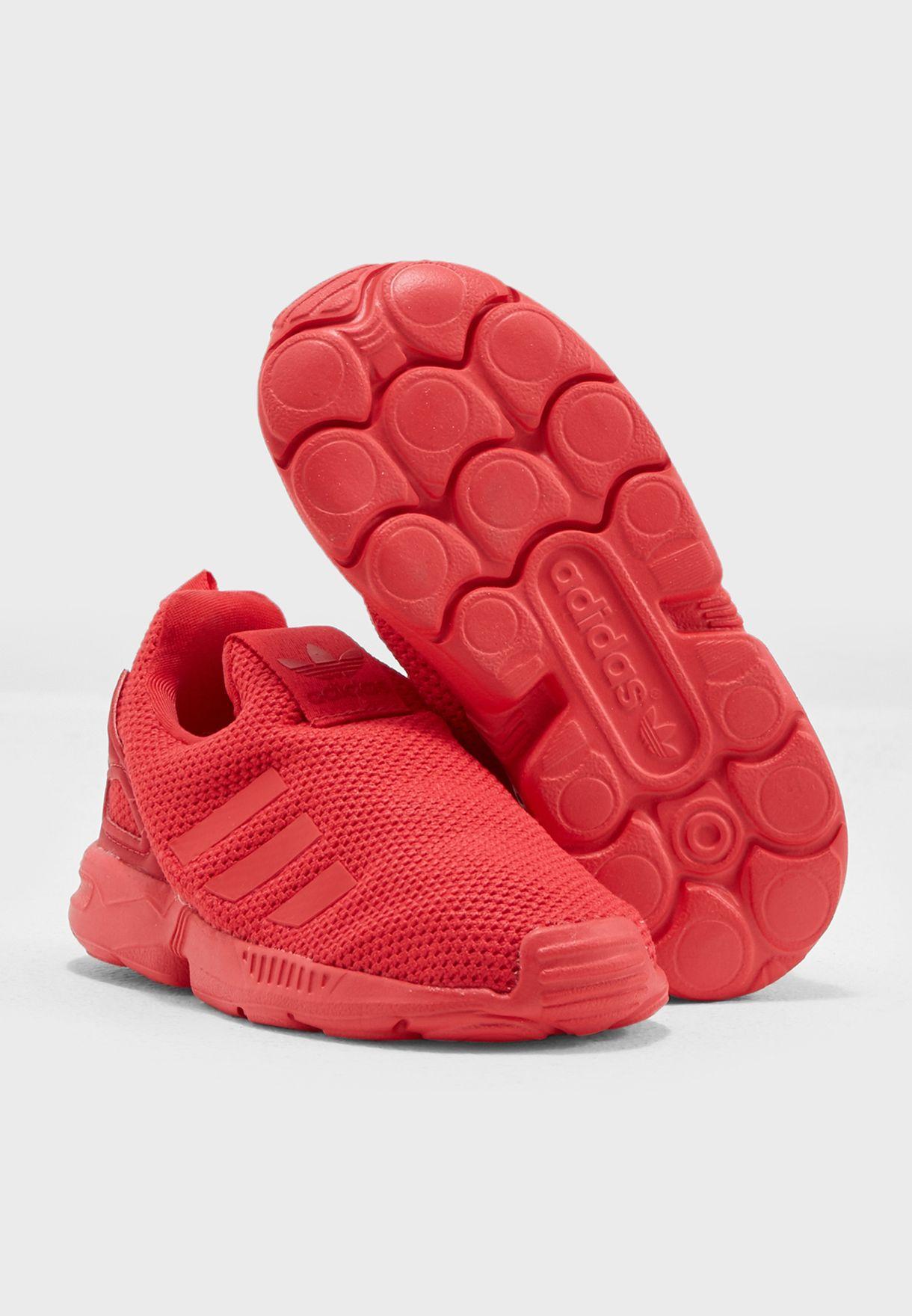 3f01558ea875a Shop adidas Originals red ZX Flux 360 SC Infant BZ0555 for Kids in ...
