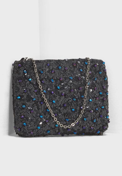 Lucie Beaded Flat Clutch
