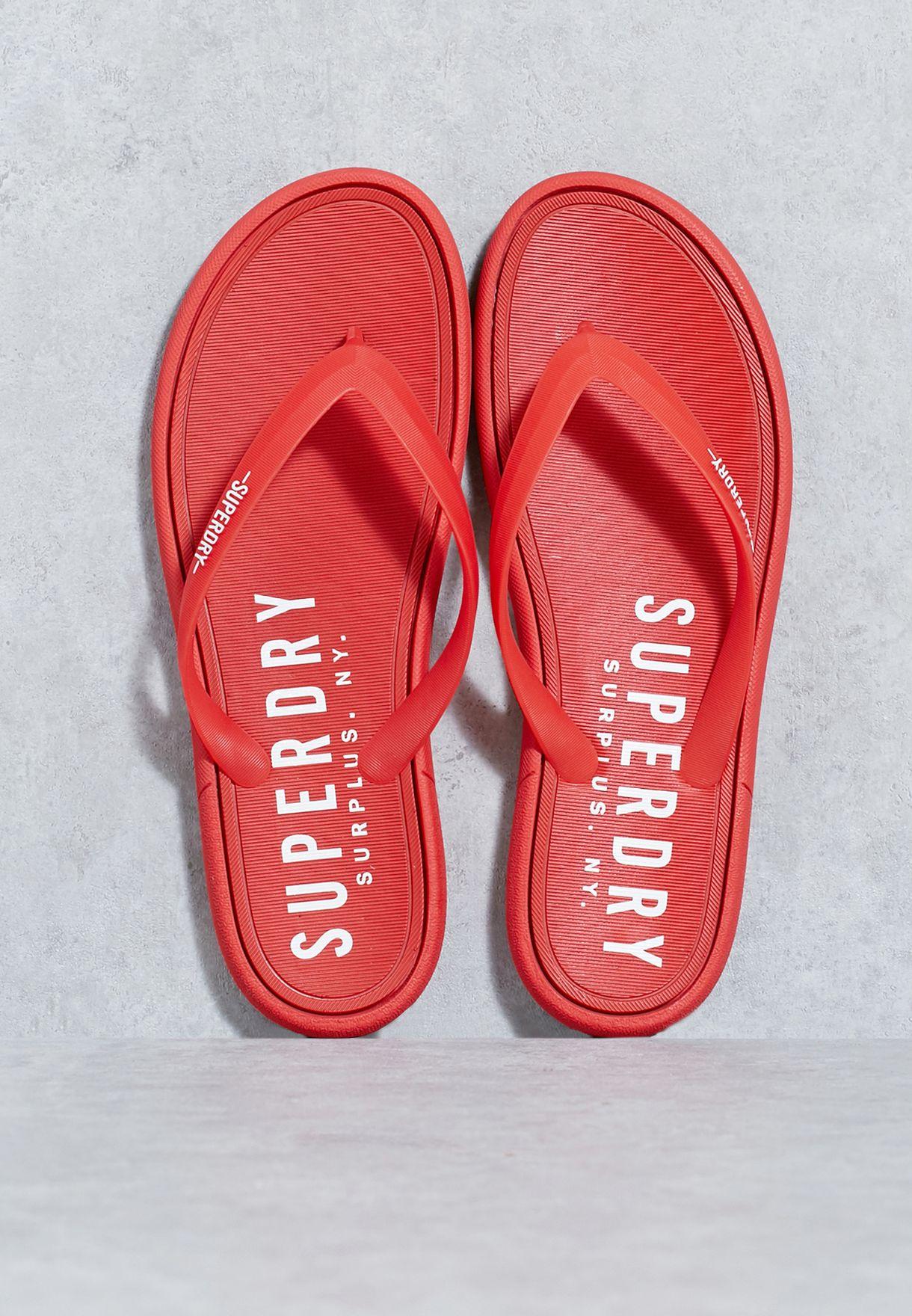 bdb43d689bbc0 Shop Superdry red Surplus Flipflops MF3005SO for Men in Bahrain -  SU847SH71XQY