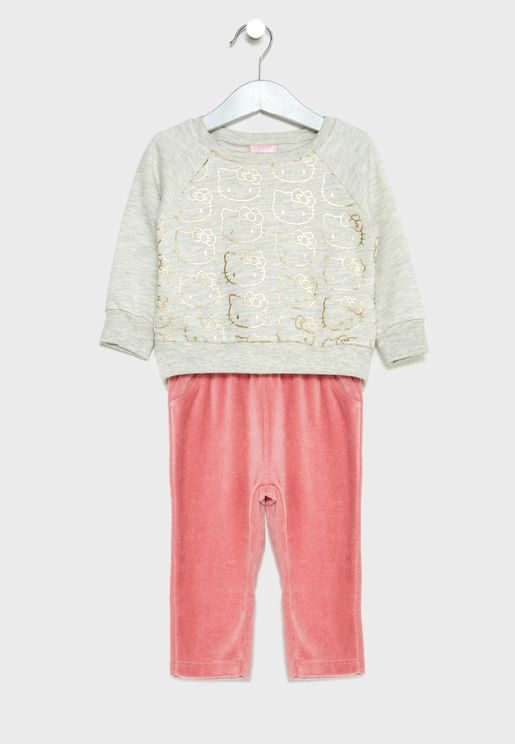 Infant Sweatshirt + Plush Pants Set