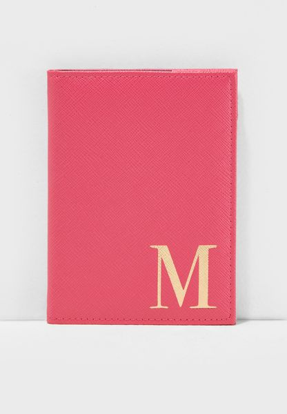 M Letter Passport Cover