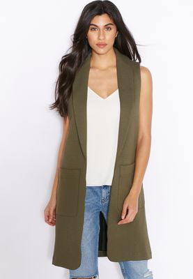 Topshop Pocket Detail Sleeveless Jacket