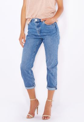 Miss Selfridge Ankle Grazer Mom Jeans