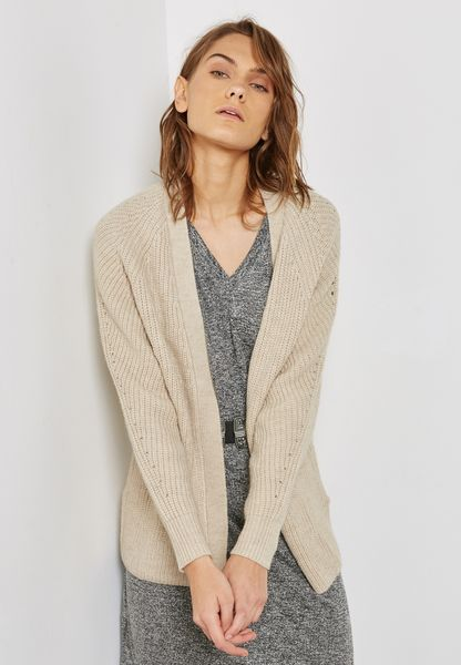Longline Cable Knit Sweater