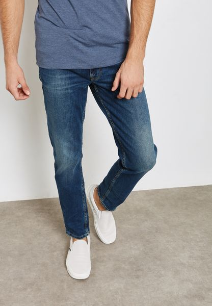 Faded Mid Wash Jeans