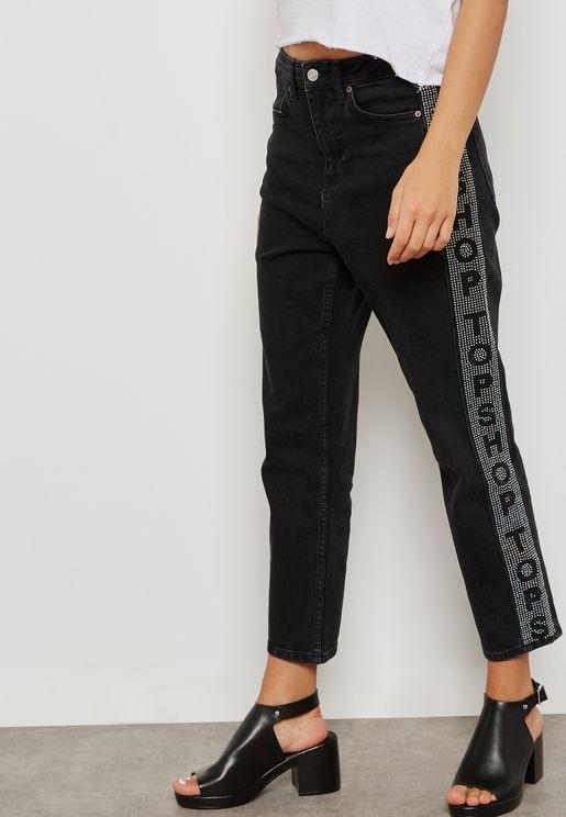 MOTO Logo Straight Leg Jeans