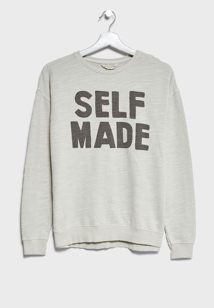 Little Slogan Sweatshirt