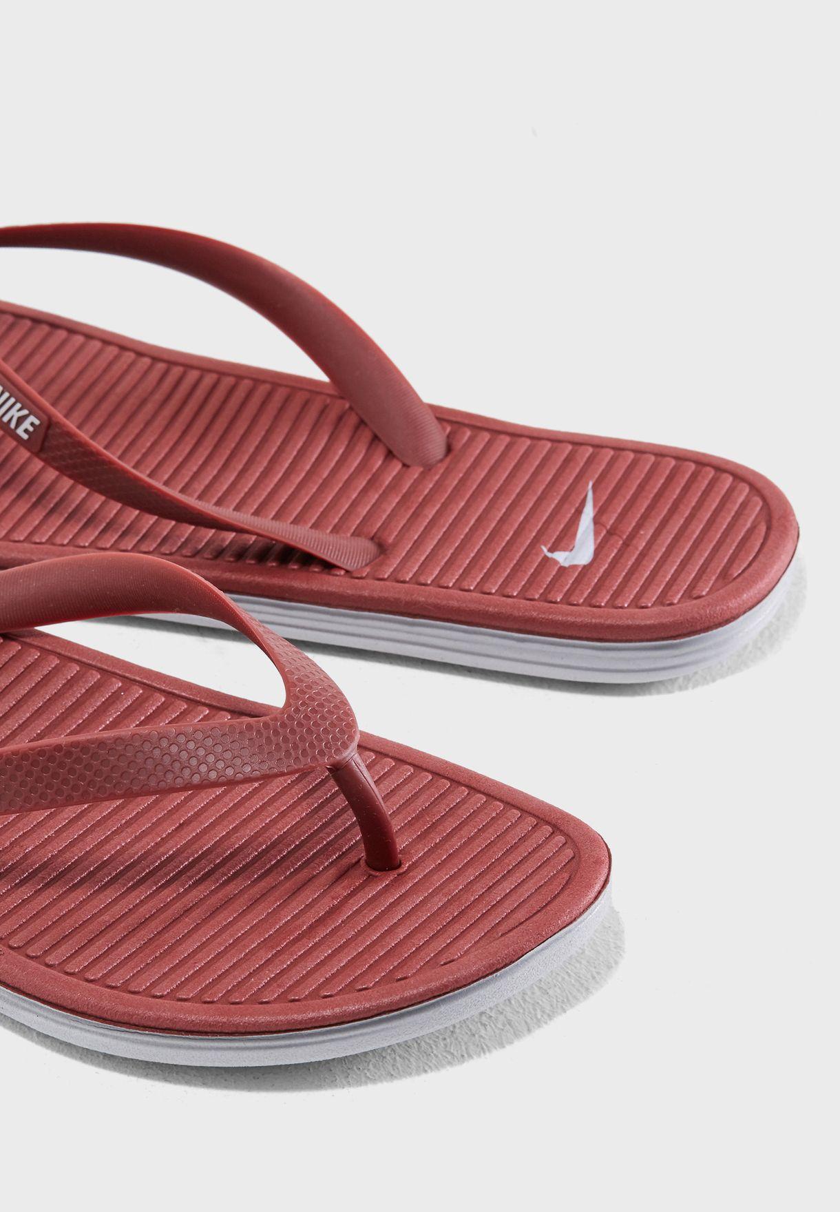 ba895c451 Shop Nike red Solarsoft II Flip-Flop 488160-606 for Men in UAE ...