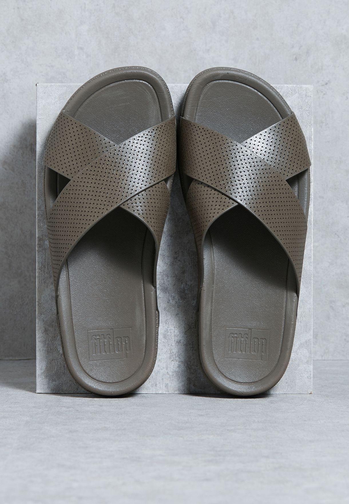 72f4e263da16 Shop Fitflop green Surfer Perf Slides C07-091 for Men in UAE ...
