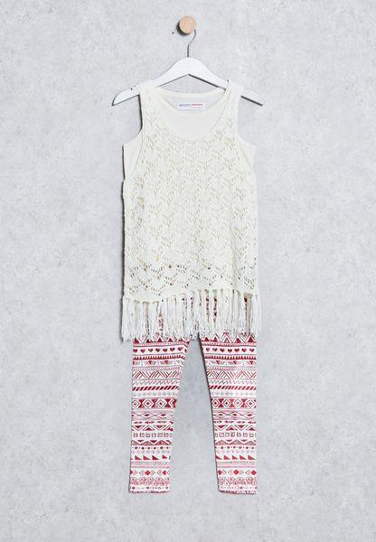 Kids Crochet T-Shirt + Leggings