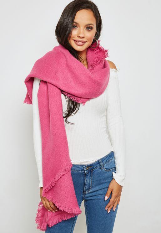 ec0fd718737be ازياء وردية اوشحة قطن للنساء ماركة فيرو مودا - نمشي عمان