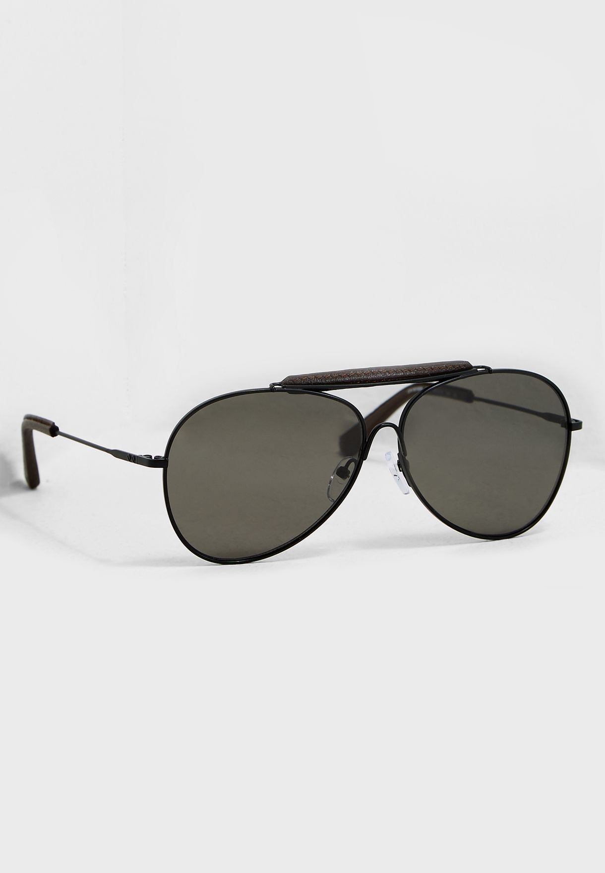 649b9efce9c0 Shop Calvin Klein black Aviator Sunglasses CK18100S-001 for Men in ...