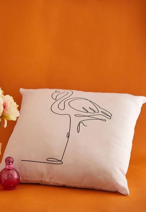 Flamingo Cushion With Insert