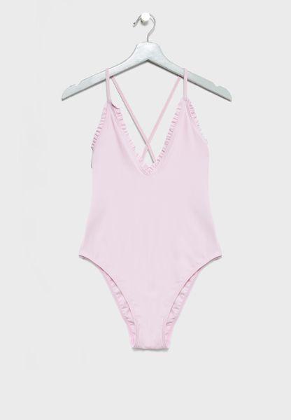 Plunge Cross Back Swimsuit