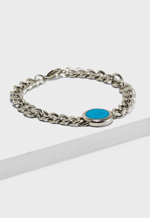 Stone Embellished Chain Bracelet