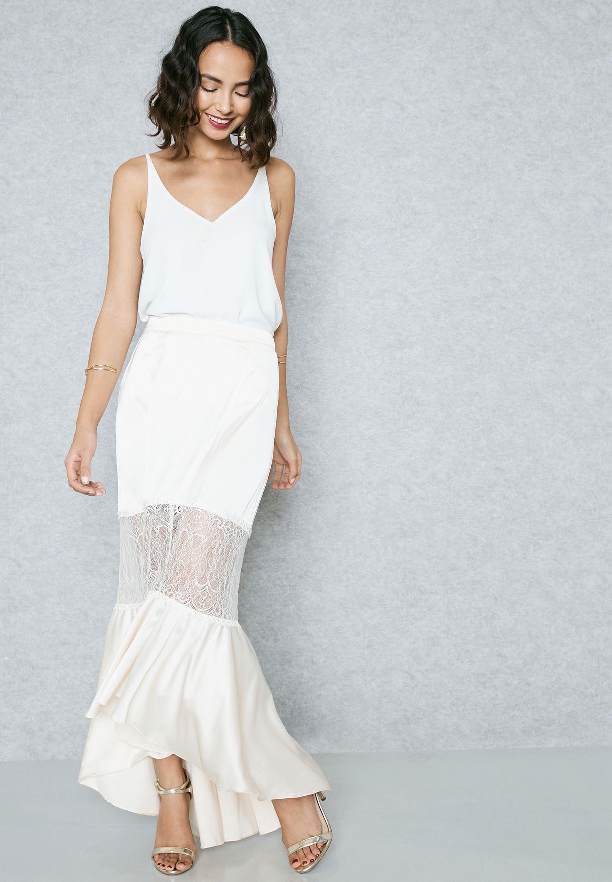 Crop Top Fishtail Skirt