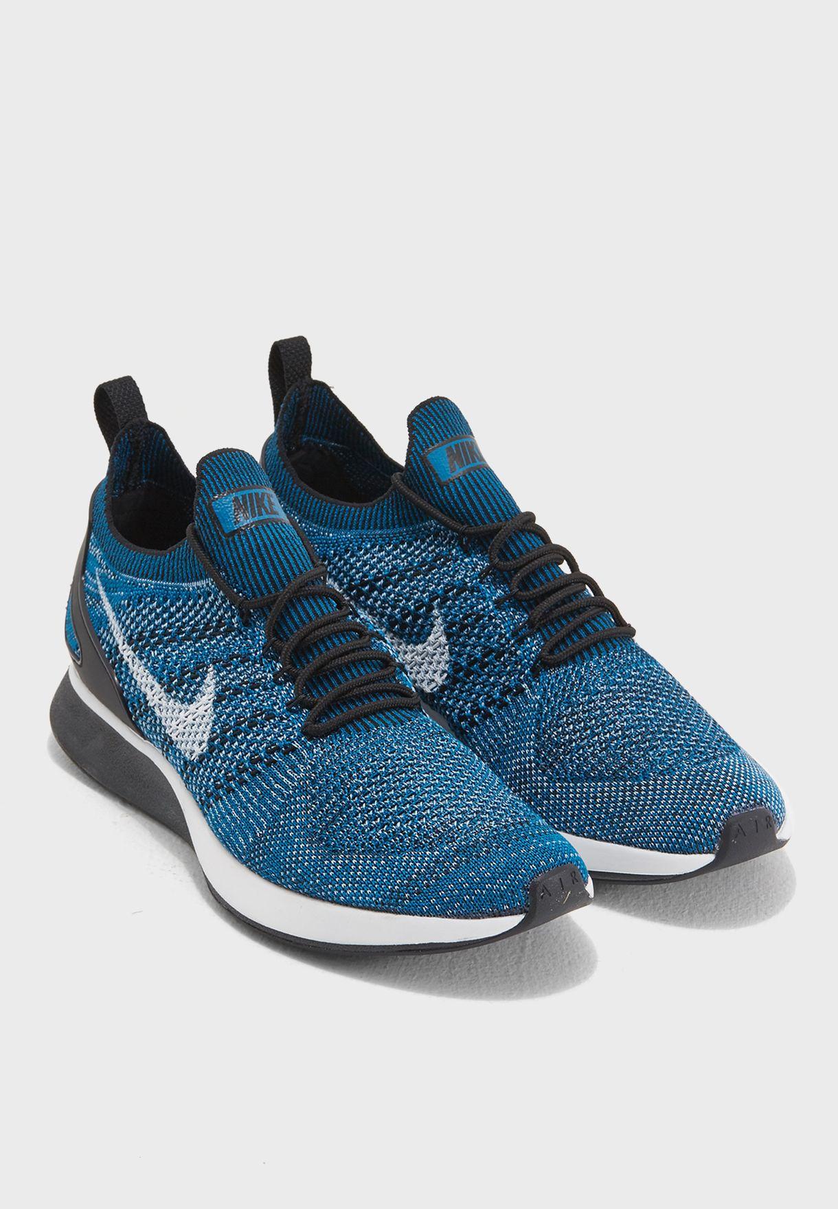 23866551e8c Shop Nike blue Air Zoom Mariah Flyknit Racer 918264-300 for Men in ...