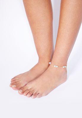 Ella Pearl Detail Anklet
