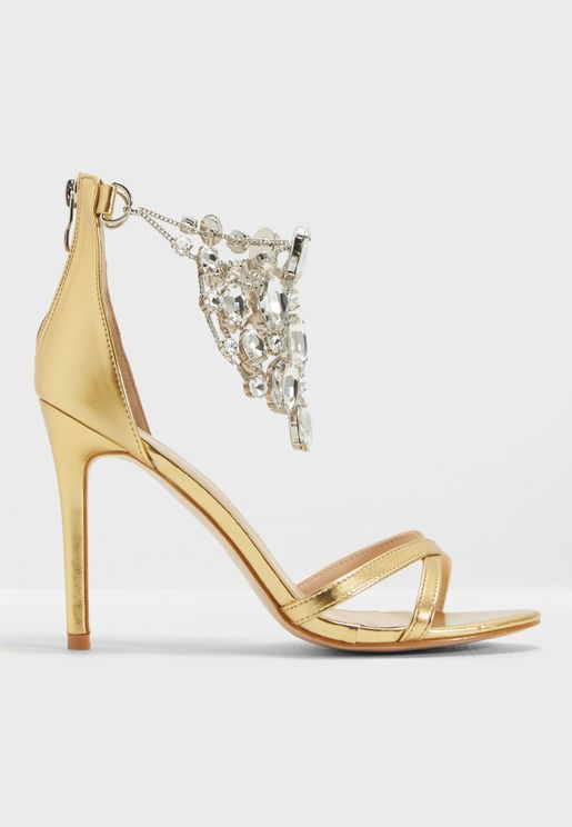 Valentine Jewel Detail Barely There Heel
