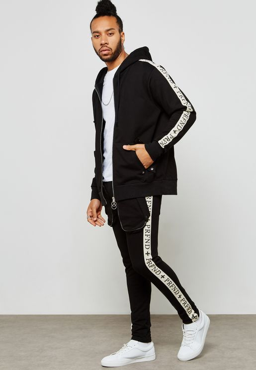 Oversized Zipped  Pocket Track pants