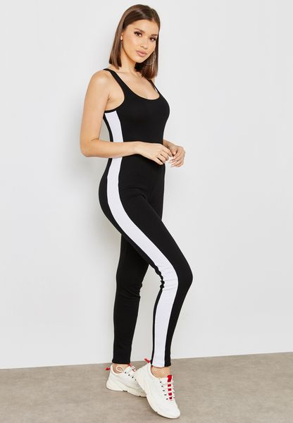 Contrast Side Paneled Jumpsuit