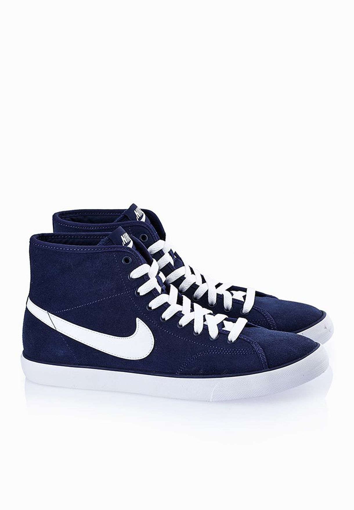 f328c6af6b30 Shop Nike navy Primo Court Mid Leather 644833-401 for Men in UAE ...