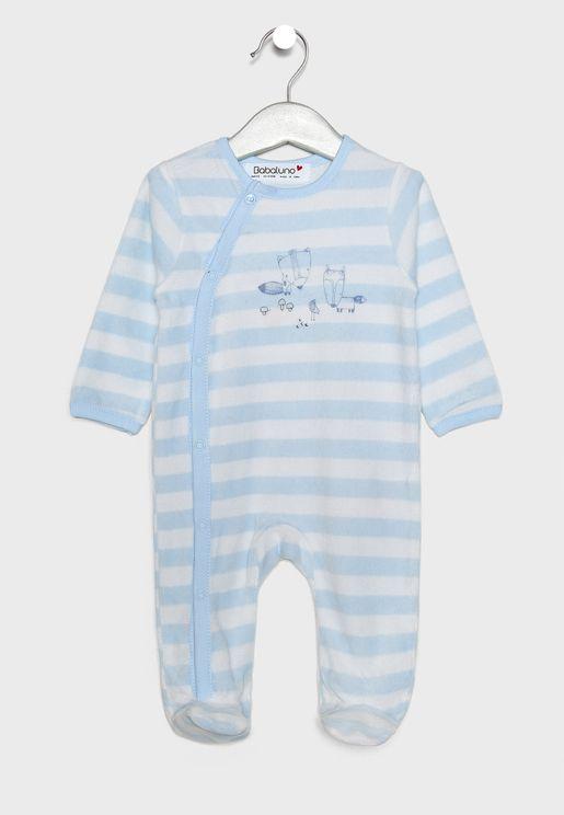 Infant Striped Romper