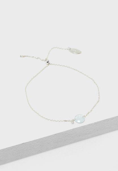 Adjustable Faceted Stone Bracelet