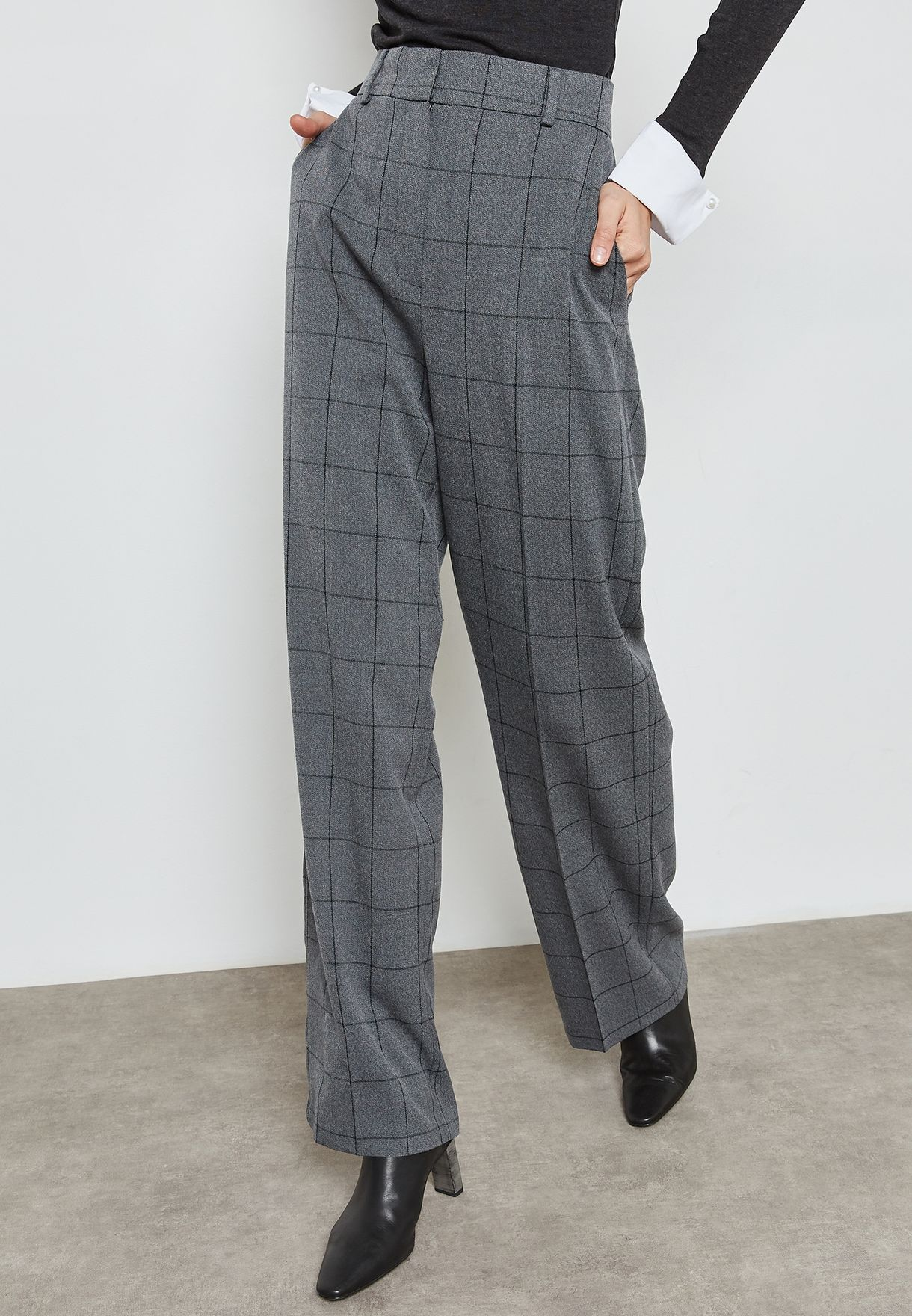 67d62b145c7 Shop Mango prints Checked Pants 11959052 for Women in Bahrain - MA887AT61WDU