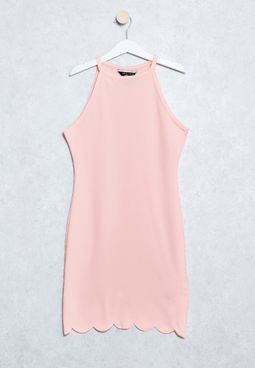 Youth Scallop Bcon Dress