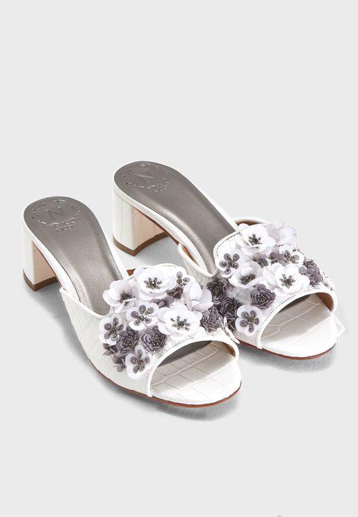 Lola Flower Embellished Sandal