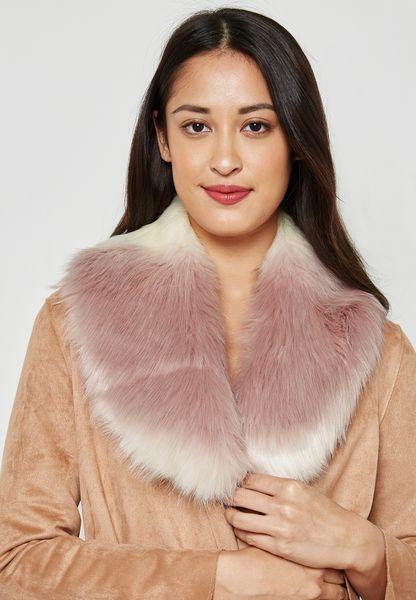 Ombre Faux Fur Collar