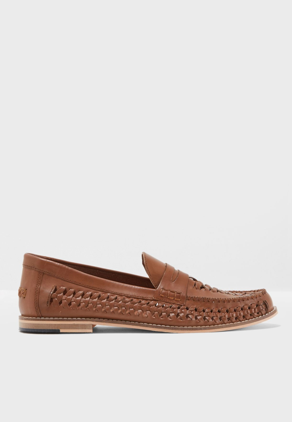 24ab343880f Shop Topman browns Mantis Loafers 76K29LTAN for Men in Bahrain ...