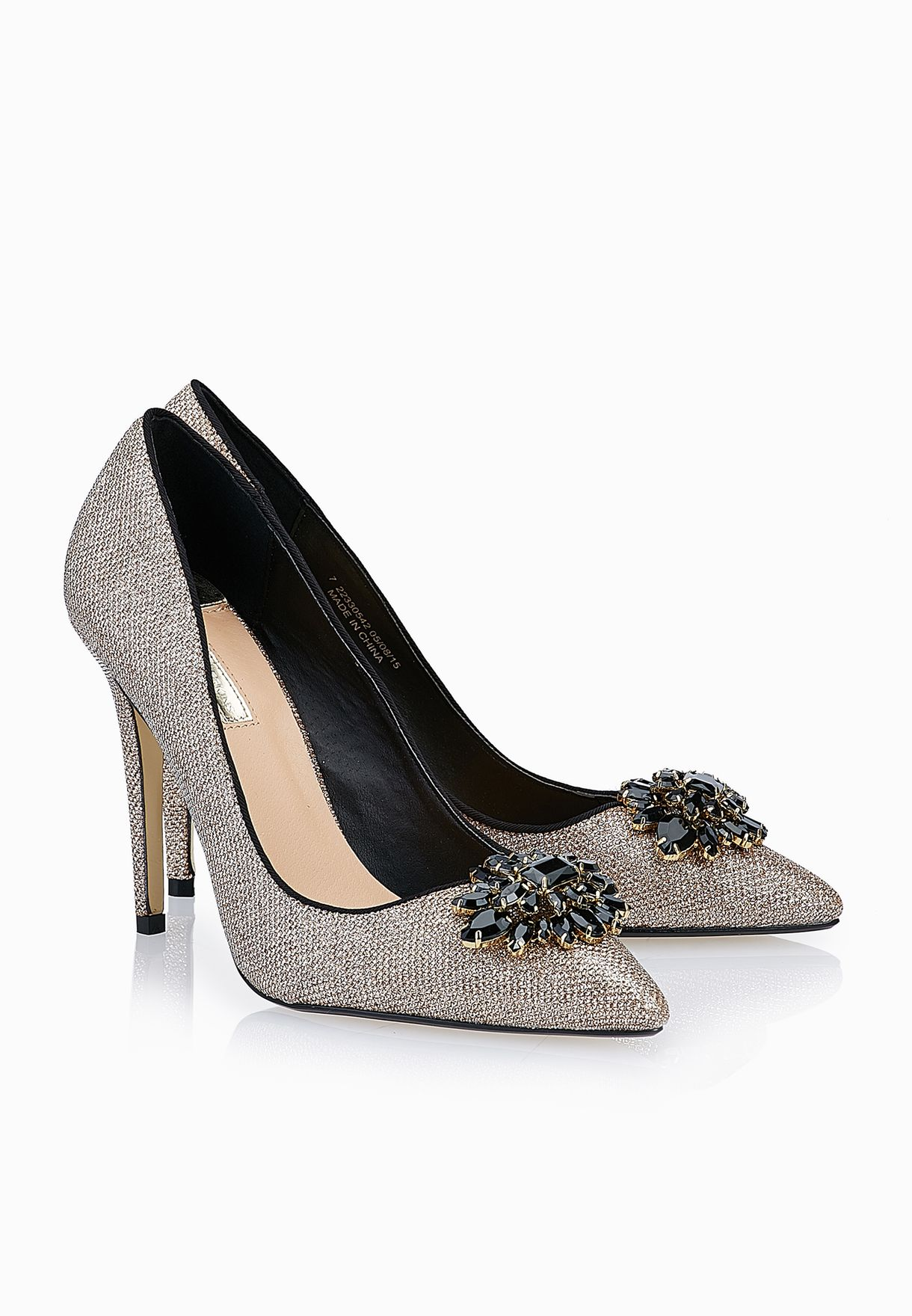d82c7b5ec27 Shop Dorothy Perkins gold Frost Brooch Pumps 22330542 for Women in ...
