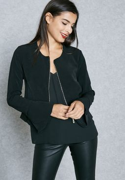 Zip Front Pocket Jacket