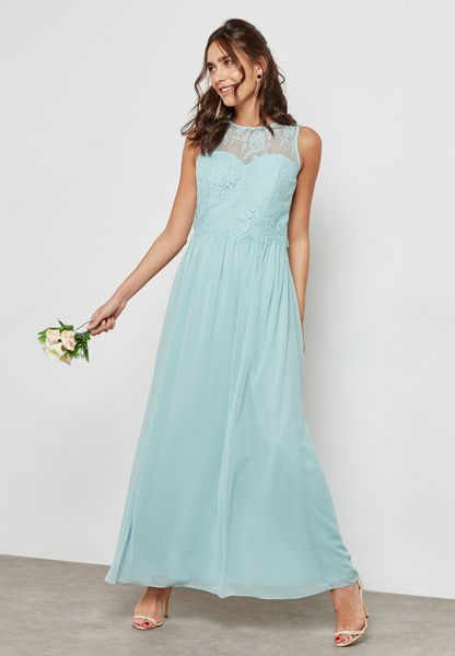 Lace Maxi Bridesmaid Dress