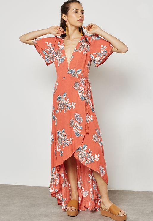 Printed Wrap Dress