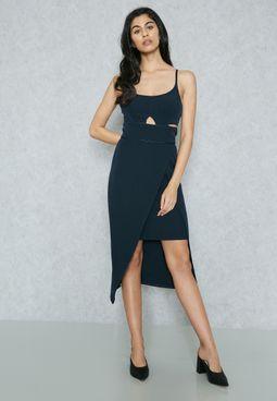 Bralet Wrap Cut-Out  Dress