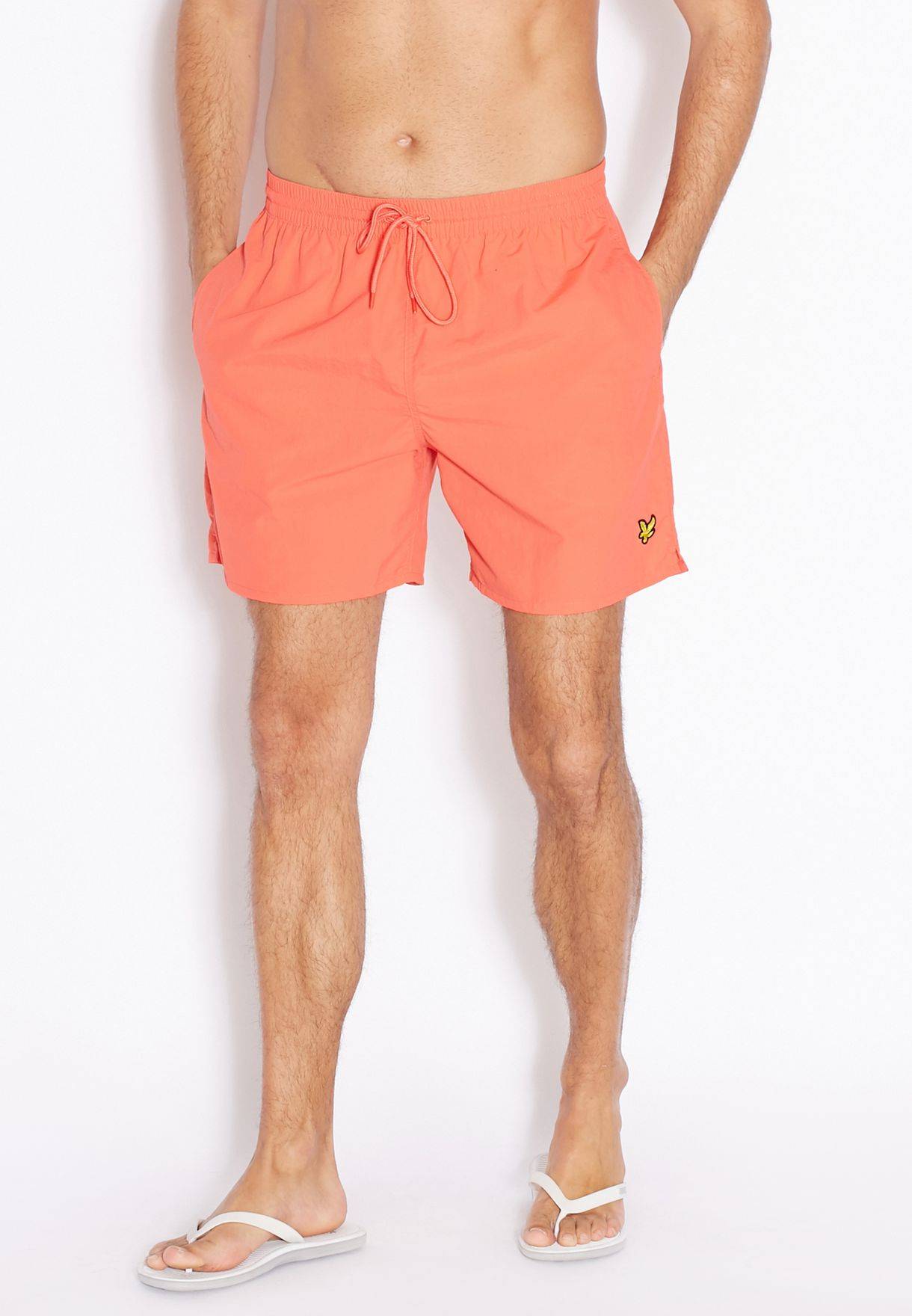 49385bb4b5 Shop Lyle Scott pink Logo Swim Shorts for Men in Bahrain - LY916AT61MNE