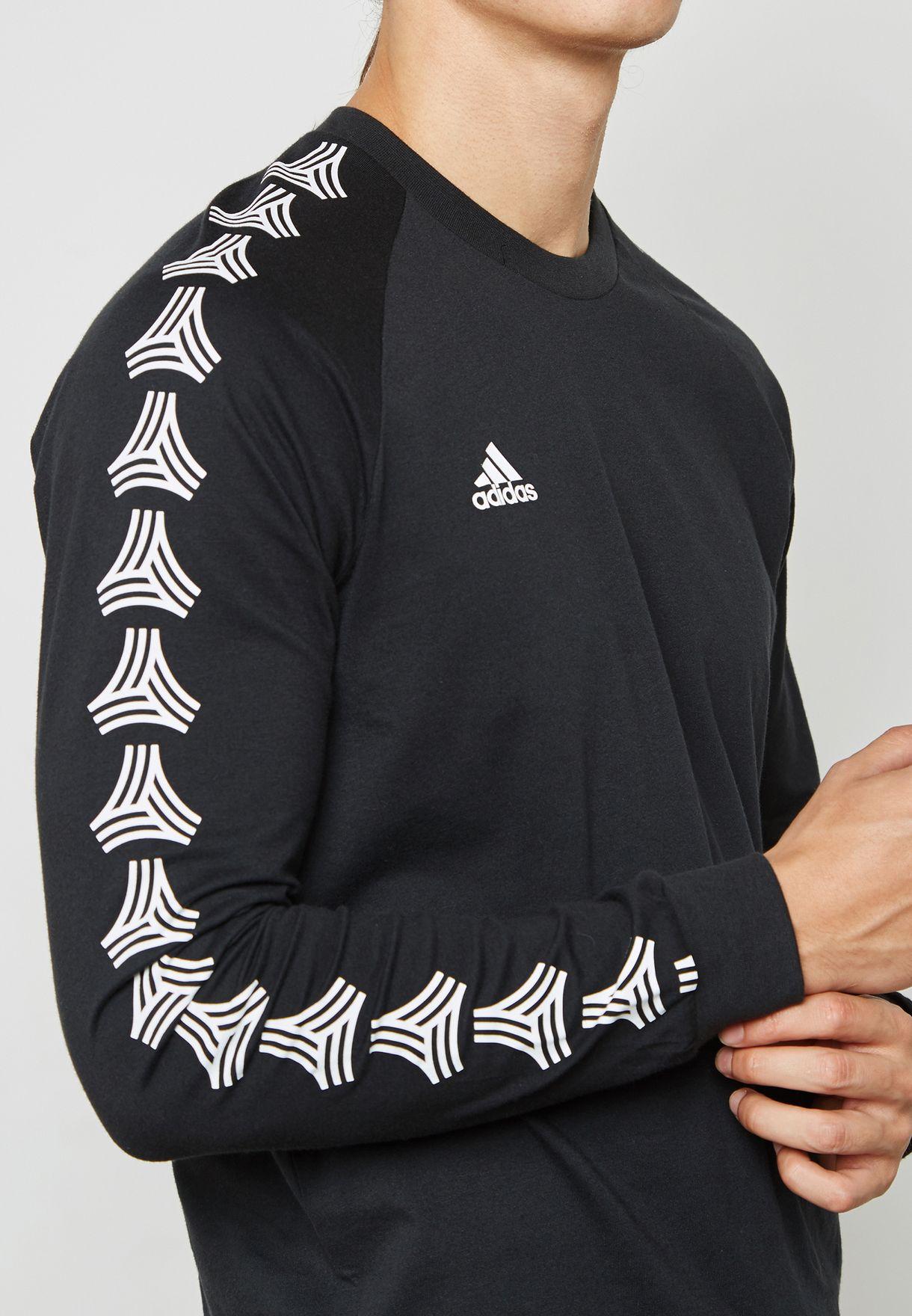 27ae73ca295 Shop adidas black Tango Cage T-Shirt CD8365 for Men in Qatar ...