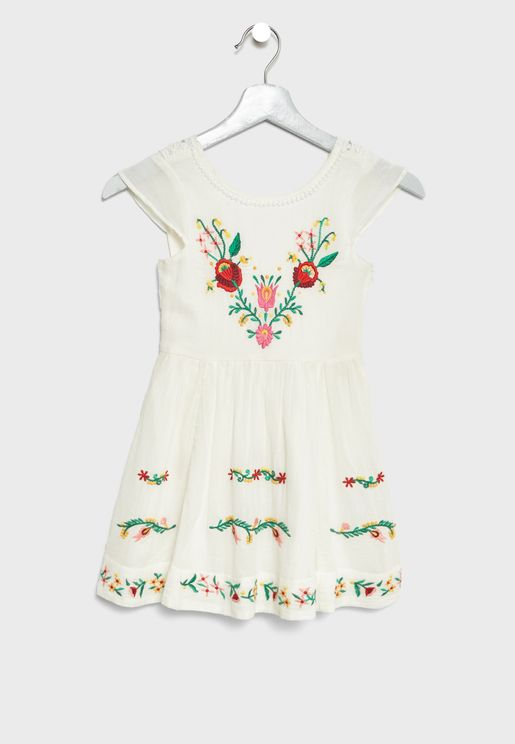 Little Angie Embroidered Dress
