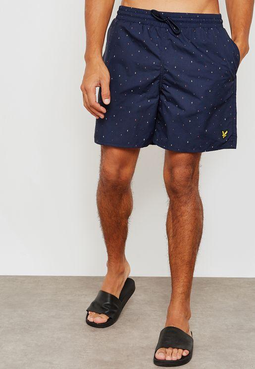 Micro Print Swim Shorts