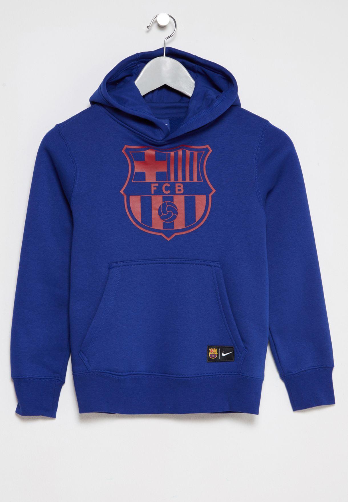 b1cd330fc68 Shop Nike blue Youth FC Barcelona Hoodie 886662-455 for Kids in UAE ...