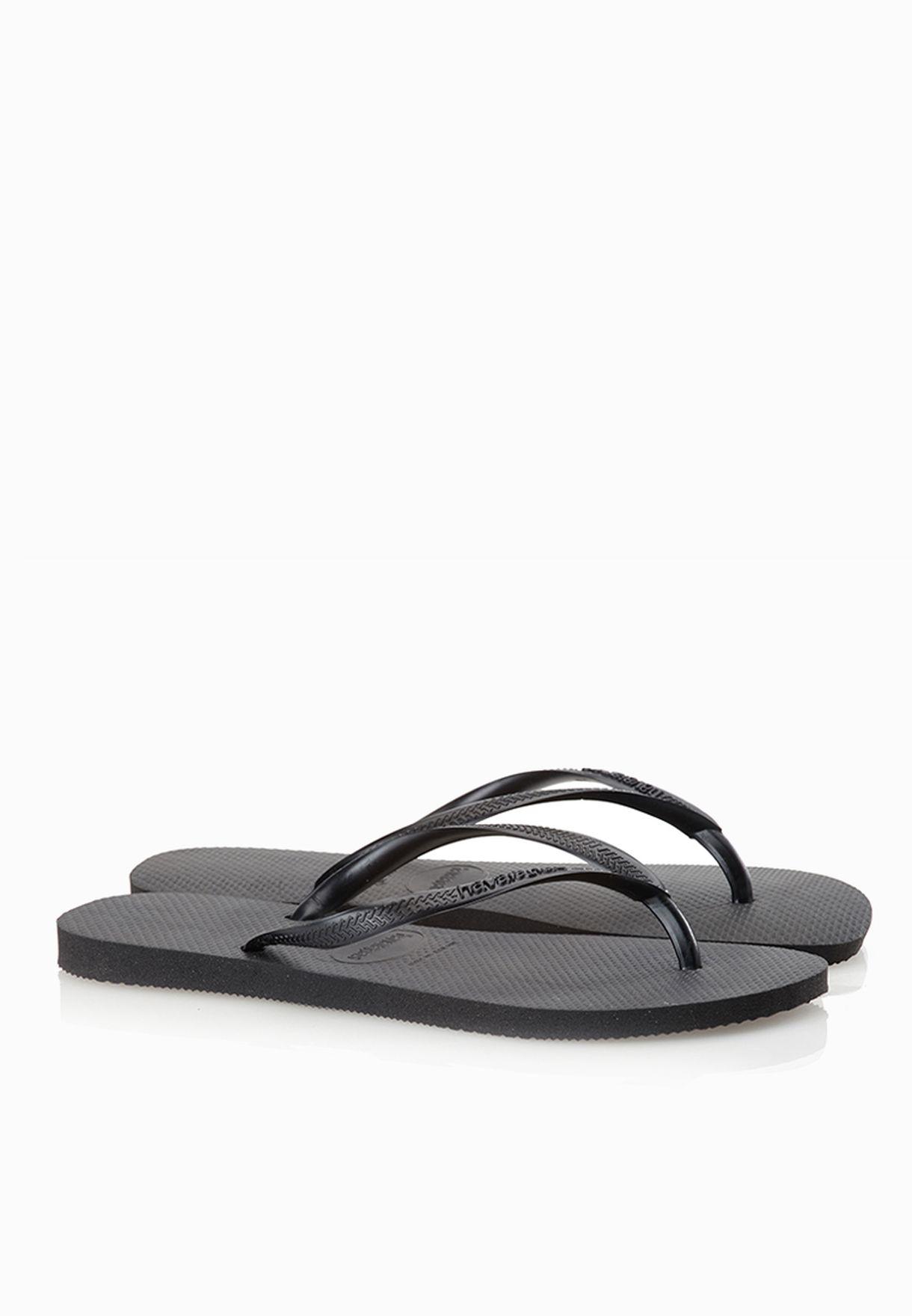 138c9fb5ee6f28 Shop Havaianas black Slim Flip Flops for Women in Oman - HA021SH61AOS